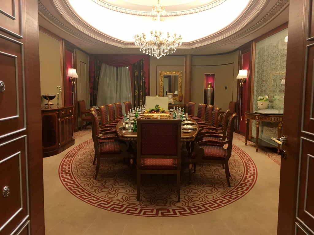 A view shows part of the suite where Saudi Arabian billionaire Prince Alwaleed bin Talal has been detained, at the Ritz-Carlton in Riyadh