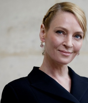 Actress Uma Thurman poses during a photocall in Paris