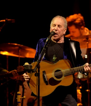 U.S. musician Paul Simon performs at the Bilbao Exhibition Center in Barakaldo