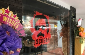 The Escobar bar entrance is seen in Singapore