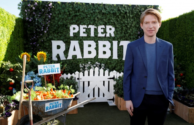 Cast member Gleeson poses at a photo call for the movie