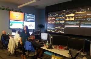 Walmart employees work at the company's network operations center in Sunnyvale