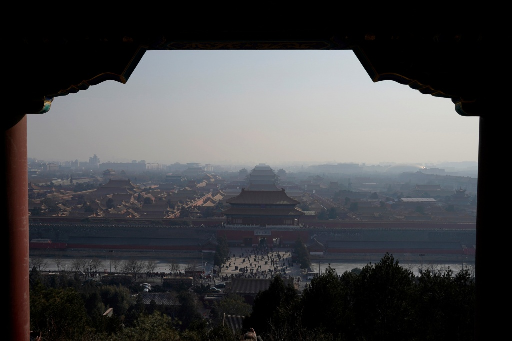Forbidden City is seen amid smog ahead of Chinese Lunar New Year in Beijing