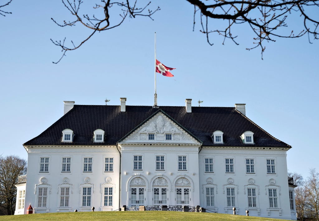 Marselisborg Palace is seen after the announcement of Prince Henrik's death, in Aarhus
