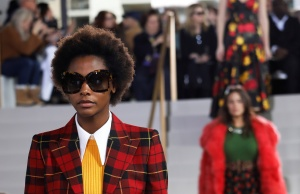 Models present creations from the Michael Kors 2018 collection during New York Fashion Week, in New York
