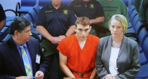 Cruz appears at a bond court hearing after being charged with 17 counts of premeditated murder, in Fort Lauderdale