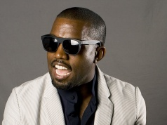 """Entertainer Kanye West poses for a portrait while promoting his new collaborative book named """"Thank You an"""
