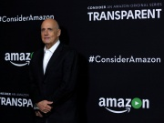 "Cast member Tambor poses at a premiere screening for the television series ""Transparent"" at Directors Guild of America in Los Angeles"