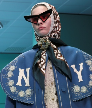 Model presents a creation from the Gucci Autumn/Winter 2018 women collection during Milan Fashion Week in Milan