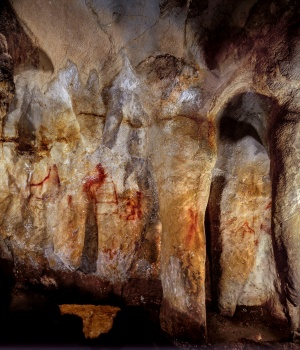 Neanderthal paintings can be seen in a cave in Pasiega