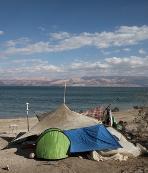 The Wider Image: Vanishing Dead Sea - a hermit haven