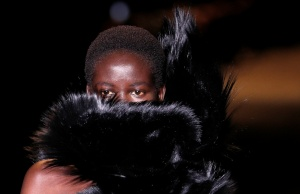 Models present creations by designer Anthony Vaccarello as part of his Autumn/Winter 2018-2019 women's ready-to-wear collection show for fashion house Saint Laurent during Fashion Week in Paris
