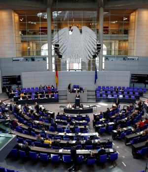 Session of the German lower house of parliament Bundestag in Berlin