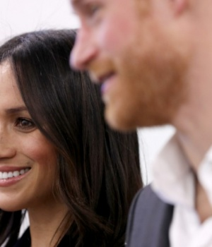 Britain's Prince Harry and his fiancee Meghan Markle attend the first annual Royal Foundation Forum held at Aviva in London