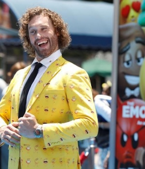 "Cast member T.J. Miller attends the premiere for ""The Emoji Movie"" in Los Angeles"