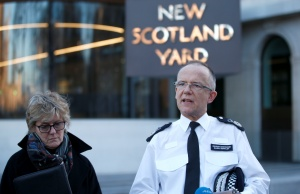 Assistant Commissioner Mark Rowley from the Metropolitan Police, together with Chief Medical Officer Sally Davies, make a statement to the press concerning Sergei Skripal and his daughter Yulia, outside Scotland Yard in central London