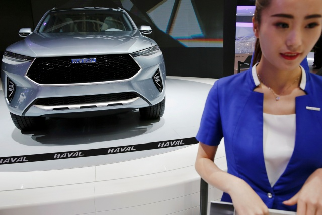 A Great Wall Motors Haval HB-02 concept vehicle is presented during the Auto China 2016 auto show in Beijing