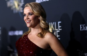 "Cast member Witherspoon poses at the premiere of ""A Wrinkle in Time"" in Los Angeles"