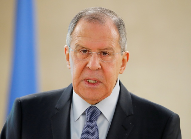Sergey Lavrov, Minister for Foreign Affairs of Russia, attends the Human Rights Council at the United Nations in Geneva