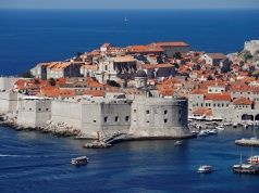 A general view of Croatia's UNESCO protected medieval town of Dubrovnik