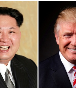 A combination photo of Kim Jong Un and Donald Trump