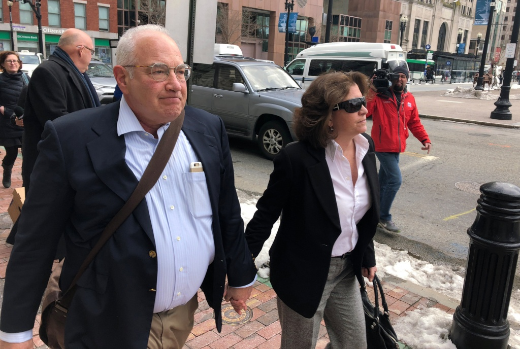 Jerrold Rosenberg a doctor in Rhode Island exits the federal courthouse in Providence