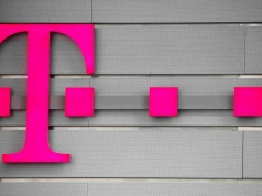 A logo of Germany's telecommunications giant Deutsche Telekom AG is seen before the company's annual news conference in Bonn