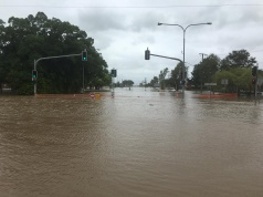 Flood water covers streets in Queensland