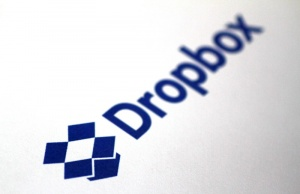 Illustration photo of the DropBox logo