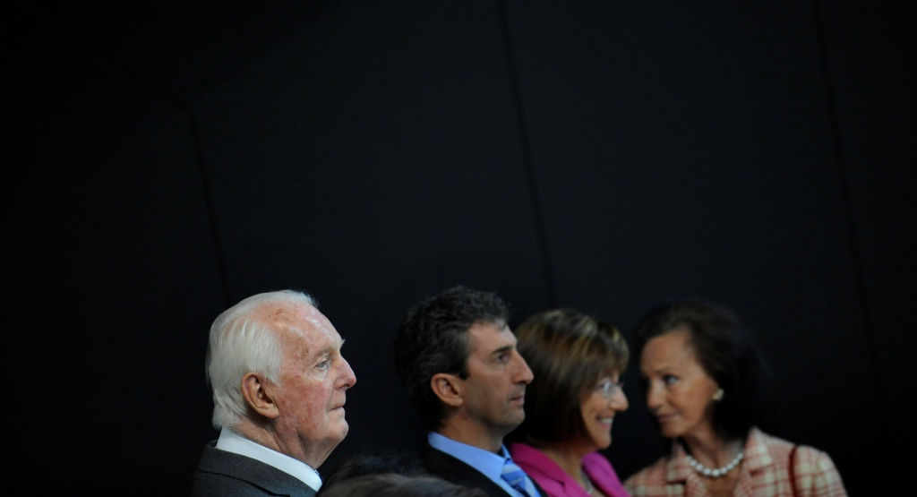 rench fashion designer Hubert de Givenchy attends the inauguration of the Cristobal Balenciaga Museum in Getaria.