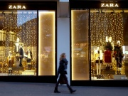 A Zara window display at one of its stores in Zurich