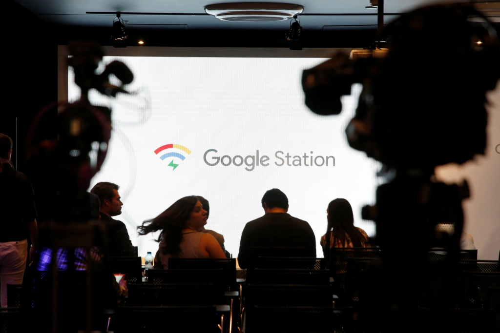Journalists wait at news conference for Google Station launch in Mexico City