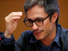 Mexican actor Bernal attends a side event during the Human Rights Council at the United Nations in Geneva