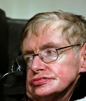 Stephen Hawking in Beijing, CHina June 21, 2006.