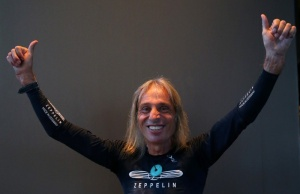 "French climber Alain Robert, also known as ""The French Spiderman"", gestures during an interview in Barcelona"