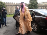 The Crown Prince of Saudi Arabia Mohammed bin Salman arrives at Lambeth Palace, London