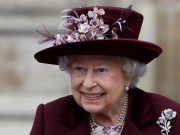Britain's Queen Elizabeth leaves after attending the Commonwealth Service at Westminster Abbey in London