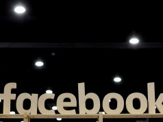A Facebook sign is displayed at the Conservative Political Action Conference (CPAC) at National Harbor, Maryland
