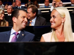 Donald Trump Jr. and his wife Vanessa attend the second day session at the Republican National Convention in Cleveland