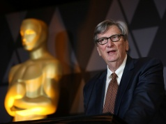 Motion Picture Academy President John Bailey speaks at the Foreign Language Film nominees cocktail reception in Beverly Hills