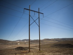 Power lines are seen at the Tahoe-Reno Industrial Center in McCarran, Nevada