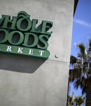 A Whole Foods Market store is seen in Santa Monica