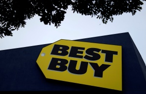A Best Buy store is seen in Los Angeles