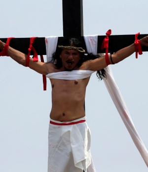 Crucifixion re-enactment in Cutud village, Philippines