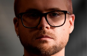 Cambridge Analytica whistleblower Christopher Wylie at a news conference in central London
