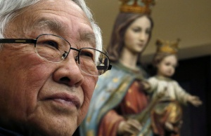 Former head of the Catholic Church in Hong Kong, Cardinal Joseph Zen attends news conference in Hong Kong