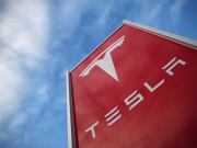 A Tesla dealership is seen in West Drayton, just outside London
