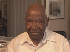 Freedom Riders Bob Singleton is pictured at his home in this still image from video in Inglewood