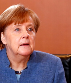 German Chancellor Angela Merkel leads her cabinet meeting in Berlin