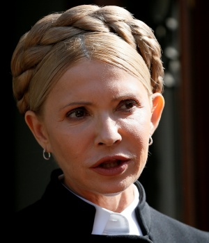 Ukrainian opposition leader Tymoshenko speaks during a press conference in Lviv